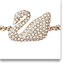 Swarovski Swan Bangle, White, Rose Gold