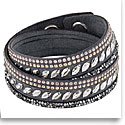 Swarovski Bracelet Slake Pulse Rock Gray Gold Crystal Medium