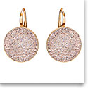 Swarovski Earrings Fun Pierced Earrings Pair Pink Rose Gold