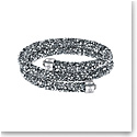 Swarovski Bracelet Crystaldust Bangle Double Gray Crystal Medium