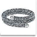 Swarovski Bracelet Crystaldust Bangle Double Gray Crystal Small