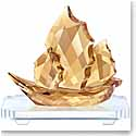 Swarovski Crystal, Sailing Junk Boat, Golden Shine