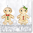 Swarovski Gingerbread Couple Ornament Set
