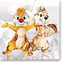 Swarovski Crystal Disney Chip 'N' Dale Chipmunk Sculpture