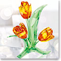 Swarovski Crystal, Paradise Tulips Crystal Sculpture