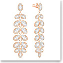 Swarovski Crystal and Rose Gold Baron Pierced Earrings Pair