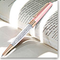 Swarovski Crystal, Stardust Pink and Rose Gold Ballpoint Pen