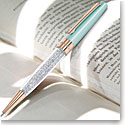 Swarovski Crystalline Stardust Ballpoint Pen, Light Green Rose Gold Plated