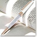 Swarovski Crystalline Stardust Ballpoint Pen, White Rose Gold Plated
