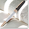 Swarovski Crystalline Stardust Ballpoint Pen, Black Rose Gold Plated