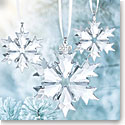 Swarovski Crystal, 2018 Christmas Ornament Set of Three