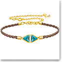 Swarovski Labyrinth Cord Multi Colored Stone Gold Medium Bracelet