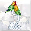 Swarovski Crystal, Lovebirds Sculpture