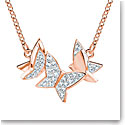 Swarovski Lilia Necklace, White, Rose Gold