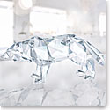 Swarovski Crystal, Wolf Sculpture By Arran Gregory, Crystal