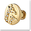 Swarovski Crystal and Gold Giraffe Tack Pin
