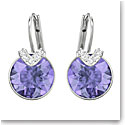 Swarovski Bella Pierced Violet Crystal Rhodium Earrings, Pair