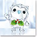 Swarovski Crystal, 2018 Hoot Happy Holidays, Annual Edition