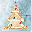 Swarovski Crystal, Gingerbread Tree Christmas Ornament