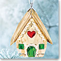 Swarovski Crystal, 2018 Gingerbread House Christmas Ornament