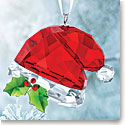 Swarovski Crystal, Santas Hat Christmas Ornament
