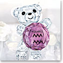Swarovski Crystal, Kris Bear Aquarius Horoscope Sculpture