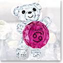 Swarovski Crystal Kris Bear Horoscope Cancer Crystal Sculpture