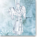 Swarovski Crystal, 2018 Angel Christmas Ornament, Annual Edition