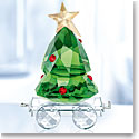 Swarovski Crystal, 2018 Christmas Tree Wagon Figurine