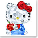 Swarovski Crystal, Hello Kitty Red Apple Sculpture