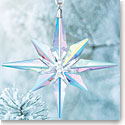 Swarovski Large Aurora Borealis Star Christmas Ornament