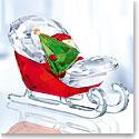 Swarovski Crystal, 2018 Santa's Sleigh Figurine