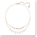 Swarovski Mayfly Crystal and Rose Gold Layered Necklace