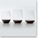 Riedel Big O Stemless, Red Crystal Wine Glasses, Set