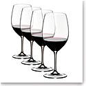 Riedel Vinum, Cabernet, Merlot Wine Glasses Gift Set, 3+1 Free