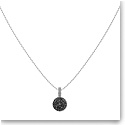 Swarovski Lollypop Grey Crystal and Rhodium Pendant Necklace