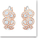 Swarovski Angelic Crystal and Rose Gold Hoop Pierced Earrings Pair