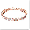 Swarovski Mix Pink Crystal and Rose Gold Bracelet