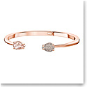 Swarovski Mix Pink Crystal and Rose Gold Bangle Bracelet, Medium