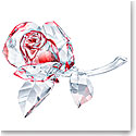 Swarovski Crystal Blossoming Rose Red