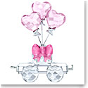 Swarovski First Steps Heart Balloons Wagon