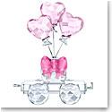 Swarovski First Steps Heart Balloons Wagon