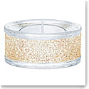 Swarovski Shimmer Gold Tone Tea Light Candleholder, Single