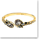 Swarovski March Owl Multi Colored and Gold Bangle Bracelet