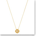 Swarovski Lattitude Golden Crystal and Gold Pendant Necklace