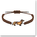 Swarovski Pets Dachshund Brown Crystal and Rhodium Medium Bracelet