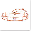 Swarovski Jewelry, One Bracelet Pink Crystal Rose Gold Medium