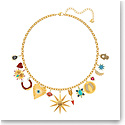 Swarovski Jewelry, Lucky Goddess Necklace Charms Multi Colored Gold