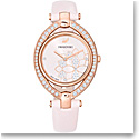 Swarovski Stella Watch, Leather Strap, Pink, Rose Gold PVD