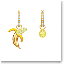 Swarovski Jewelry, No Regrets Pierced Earrings Banana Multi Colored Gold